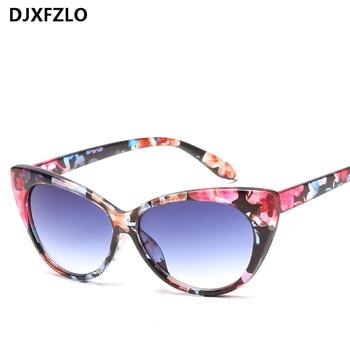 fc73fc3914 2018 nueva Sexy De ojo De gato gafas De Sol mujer marca diseñador Vintage  ojos De