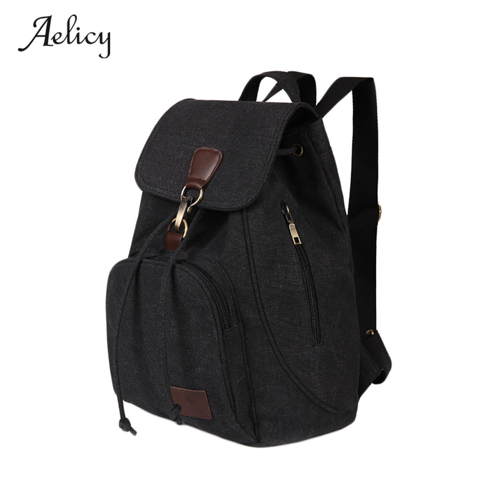 Aelicy Casual Backpack Women Canvas School Bags Leisure Travel backpack Laptop Backpack Bag Backpacks For Teenager Girls 0925 ibackpack 2017 canvas backpack for girls women starry sky fashion students school backpacks for teenager panel computer bags