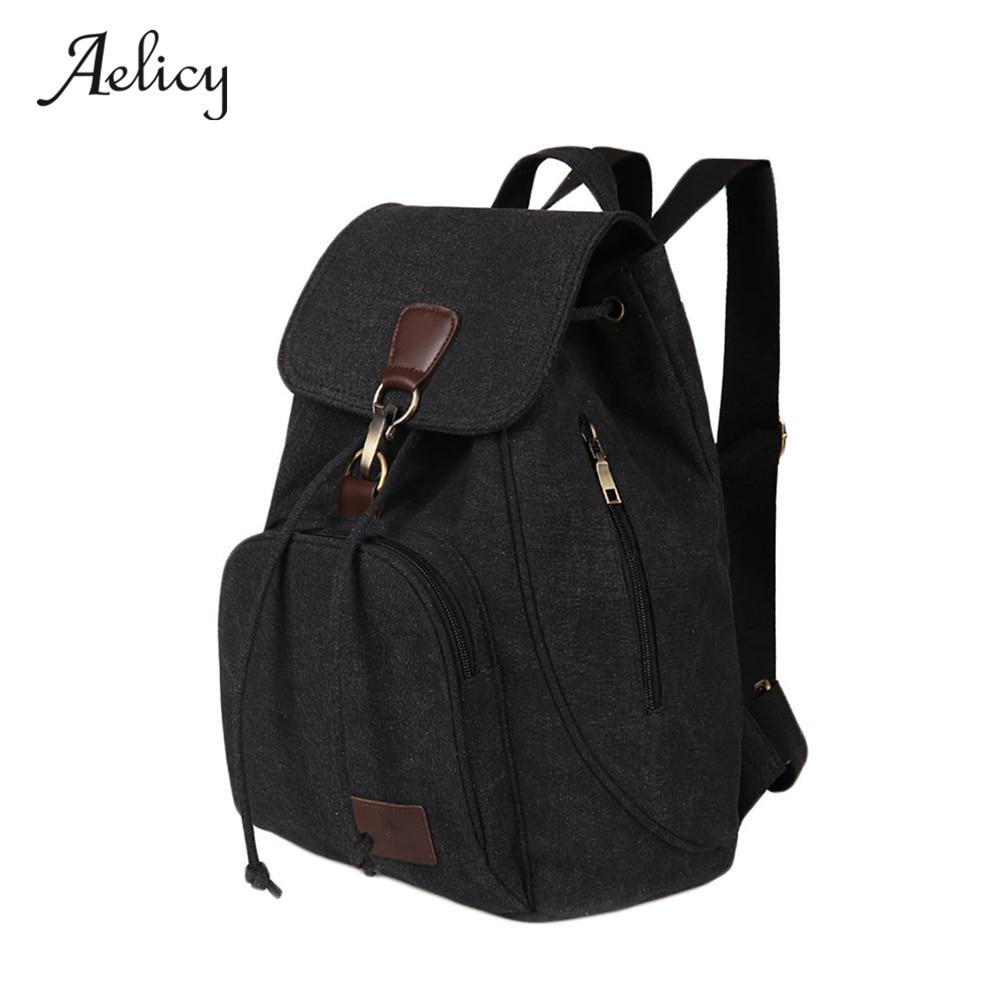 купить Aelicy Casual Backpack Women Canvas School Bags Leisure Travel backpack Laptop Backpack Bag Backpacks For Teenager Girls 0925 онлайн