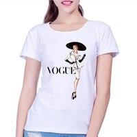 2017 Brand Women T Shirt Tattoo Vogue Princess Print Tshirt Women Short Sleeve Casual Shirt For