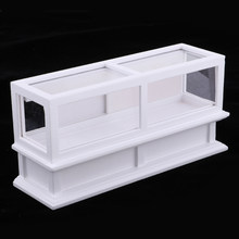 Handcrafts 1/12 Dollhouse Miniature Wooden Display Cabinet Showcase Shopwindow Model Shopping Mall Scenes(China)