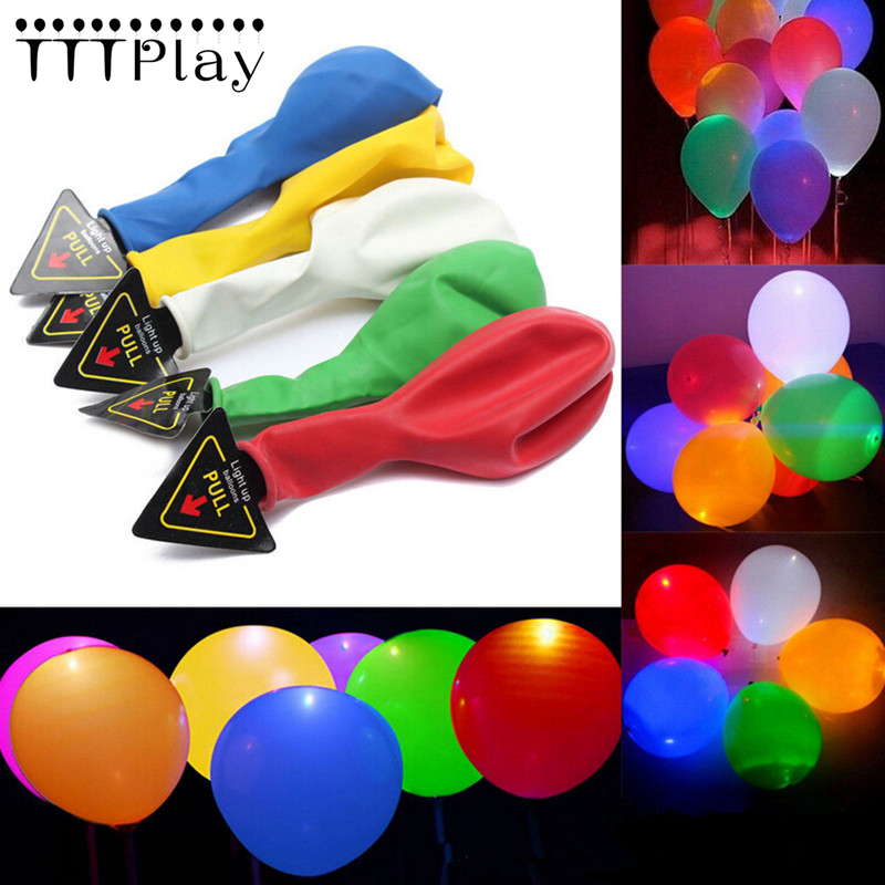50Pcs LED Balloons 12 Inch Latex Multicolor Lights Helium Balloons Christmas Hollween Wedding Decoration Birthday Party Supplies