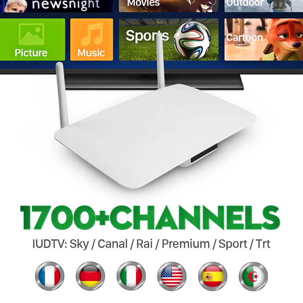 ФОТО Q1404 Tv Box Android Quad Core With Free 6 Months IPTV Subscription Channels European Italy Spain French Indian Netherlands UK