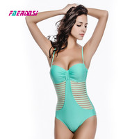 S XXL One Piece Swimsuit High Quality Push Up Swimwear Women Solid Color Hot Sale One