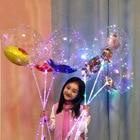 ①  Рождественский мультфильм волнистый шар прозрачный воздушный шар светодиодный свет воздушный шар над ✔