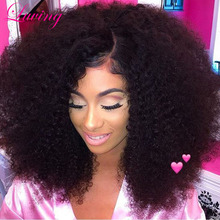 Full Lace Human Hair Wigs Glueless Front Lace Wig Mongolian Afro Kinky Curly Hair Lace Front Human Hair Wigs For Black Women