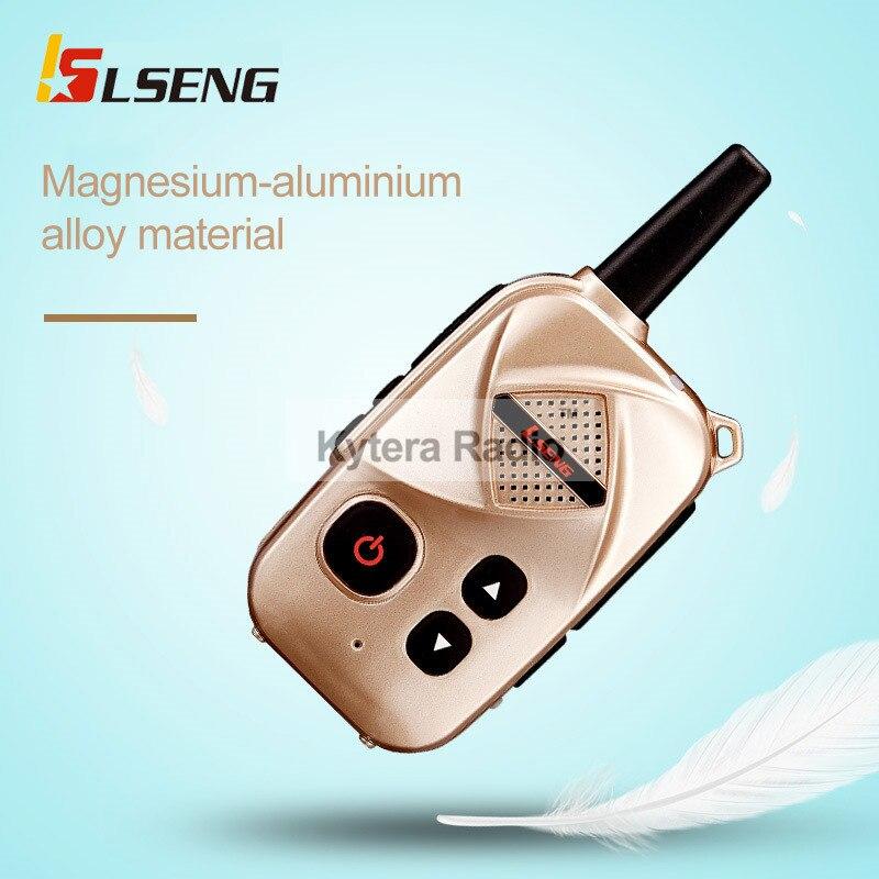 Nieuwe collectie Mini Professional Walkie Talkie Portable Twee manier Radio UHF 400-470 MHz Push To Talk Fashion Transceiver