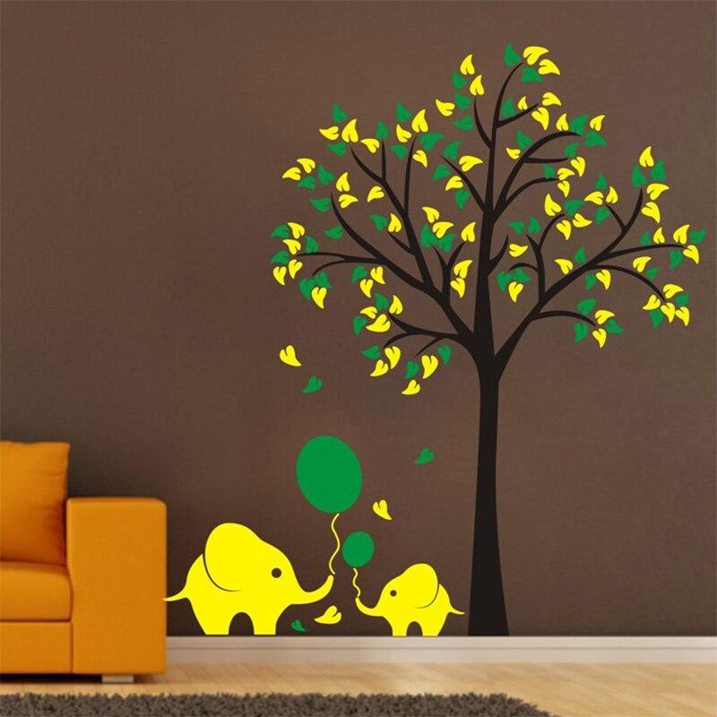 Výprodej Velkoformátové High150cm Slon Lepicí obrazy na stěnu Nástěnná malba Mateřské vinyly Dětská nálepka na zeď