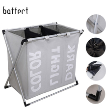Корзина для грязного белья корзина для хранения одежды корзина для белья водостойкая ткань Оксфорд три сетки классифицированная корзина в ванной комнате