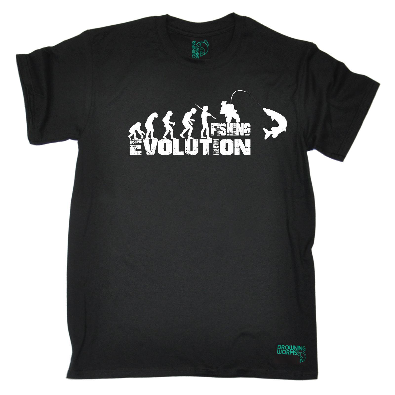 진화 낚시꾼 T- 셔츠 생선 미끼 잉어 재미 있은 선물 생일 T- 셔츠 패션 새 패션 남성 T 셔츠 카와이이
