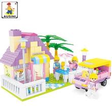 Big Promotion Kids Ajándék AUSINI 270db Építőelemek ház brinquedos akció és játék figurák Gyermekjátékok épület téglák