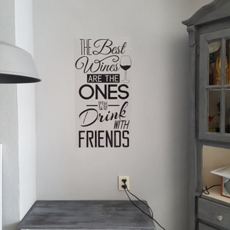 Aliexpress Buy Kitchen Quotes Wall Decal The Best WinesWith Friends Vinyl Sticker Dining Room Art Mural Home Decor From