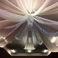 1 шт. белая шифоновая драпировка потолочная Таблица Swag для свадеб мероприятий и вечеринок украшение крыши драпировка навес