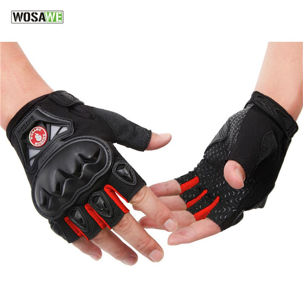 US Cool Skeleton Cycling Motorcycle MTB Bike Half Finger Short Sports Gloves