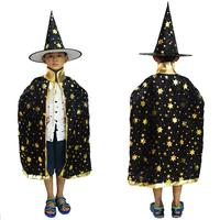 Children Boys Girls Unisex Cloak Wizard Cosplay Costumes Halloween Party Fun Funny New Casual Leisure New