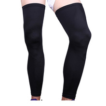 2 pcs/pair super elastic lycra basketball knee pad support brace football leg calf thigh compression sleeve sports safety