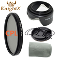 KnightX камеры фильтр FLD УФ CPL MCUV Звезда Комплект для Nikon Canon EOS 1100D 1000D 600D 550D 500D Цифровая Зеркальная Камера Pentax Sony t5i t3i t5 52 58