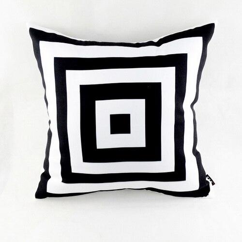 """18 """"* 18"""" černá bílá abstraktní geometrická vrhací polštářový povlak na rozkládací pohovky pro domácí povlečení"""