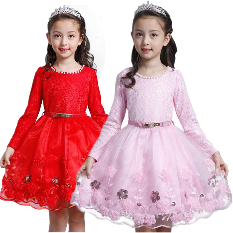 Winter Flower Girls Dresses Children Clothing Lace Wedding Party Girls Dress Birthday outfit Princess Infant Dress of Girl girl party dress princess dress high quality embroidery lace flower girl dresses children clothing girl wedding dress
