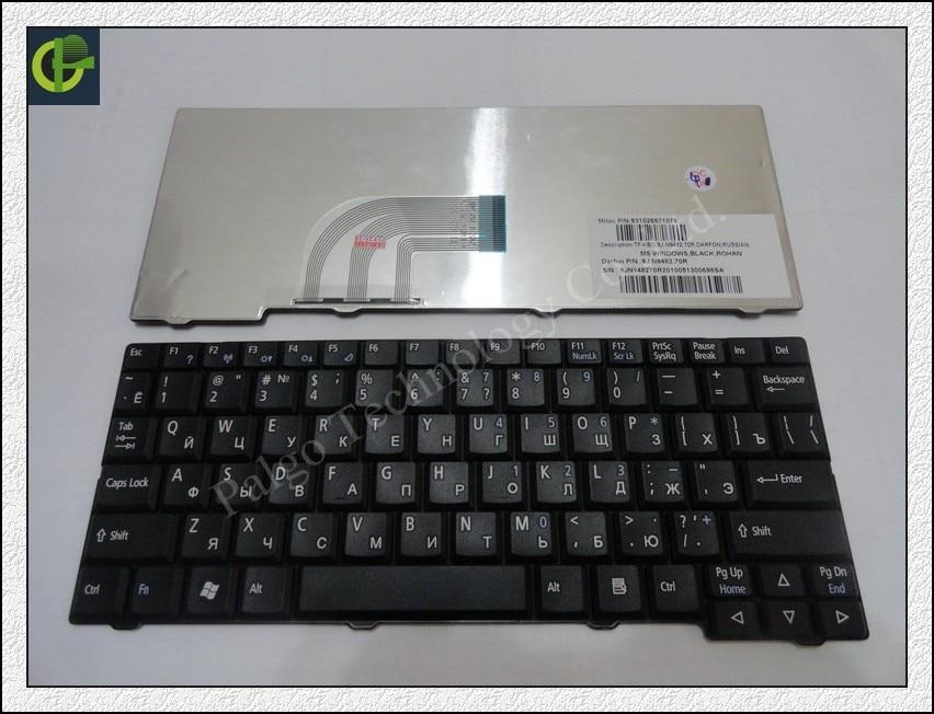 Russian Keyboard for Acer Aspire One ZG5 D150 D210 D250 A110 A150 A150L ZA8 ZG8 KAV60 Emachines EM250 RU Black keyboard