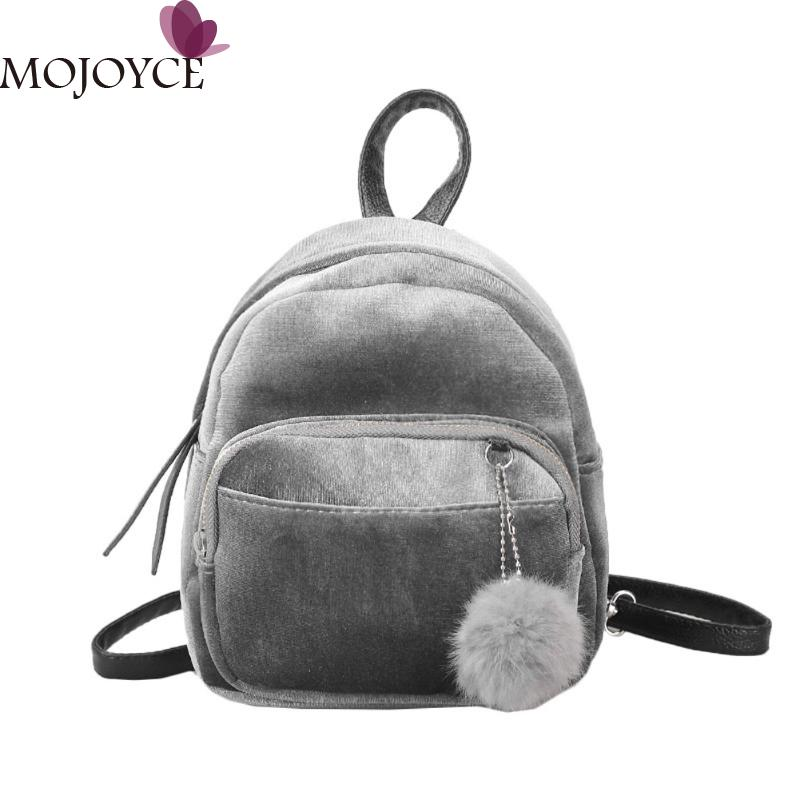 Women Velvet Backpack Schoolbag Travel Shoulder Bag Mini Backpack for Teenager Girls Winter Soft Women Daypack Female Mochilas mma backpack box ing shoulder ufc memory gifts daypack for friends