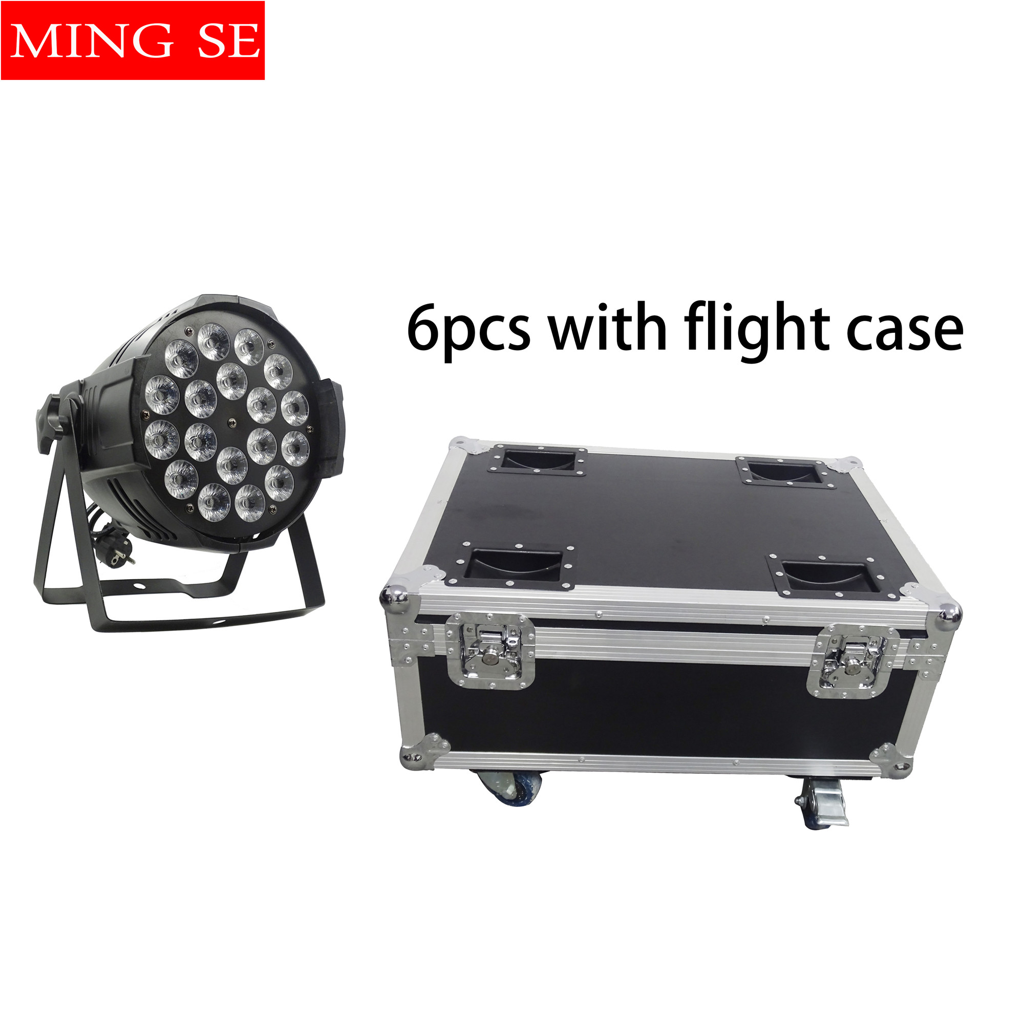 6pcs 18x12w led Par lights RGBW 4in1led dmx512 disco lights professional stage dj equipment With flight case6pcs 18x12w led Par lights RGBW 4in1led dmx512 disco lights professional stage dj equipment With flight case