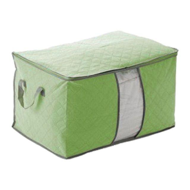 Attirant Foldable Storage Bag Clothes Blanket Quilt Closet Sweater Organizer Box  Pouches Random Color