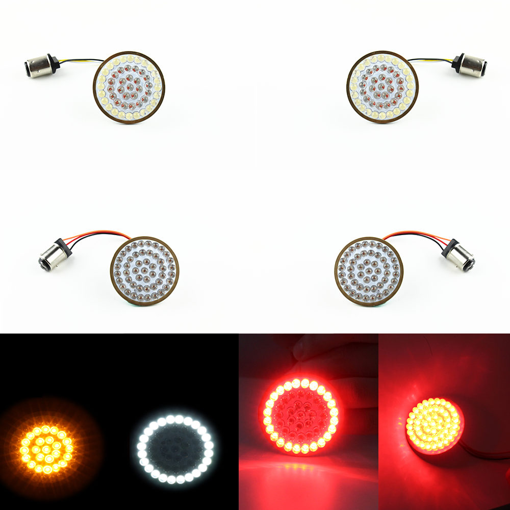 LED Inserts Front and Rear turn-signal lights LED turn Signal Bullet style Inserts for Harley Davidson 2017 Street Glide Special