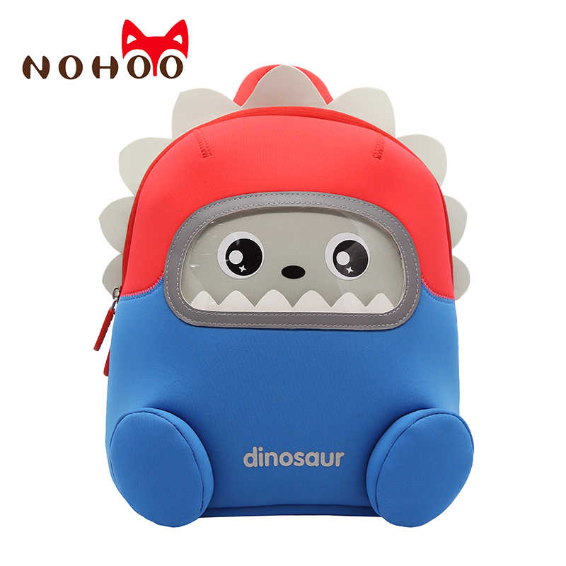 0ab582cbbbbb NOHOO Dinosaur Backpack Kids Toddler Child Cute Zoo Waterproof 3D Cartoon  Sidesick Bag for Pre School