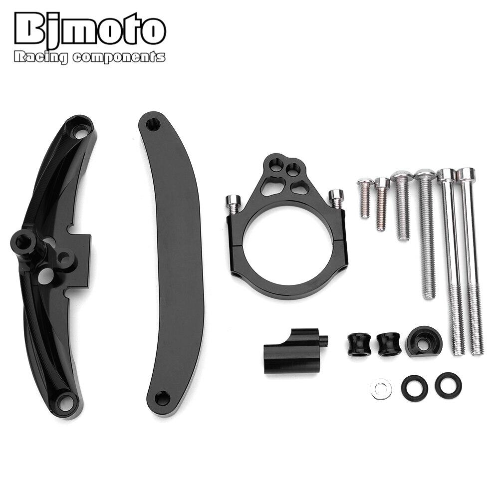 BJMOTO pour Yamaha FZ1 FAZER 2006-2015 CNC en aluminium réglable de direction stabiliser amortisseur Support de montage Kit de Support