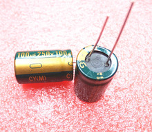 5pcs/lot 250v 100uf  13*25 20% RADIAL aluminum electrolytic capacitor 100000NF