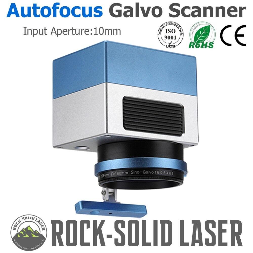 Autofocus Galvo Scanner Head with Auto Focusing Controller Fiber Laser Marking Machine 1064nm Input 10mm SG2206 Galvanometer