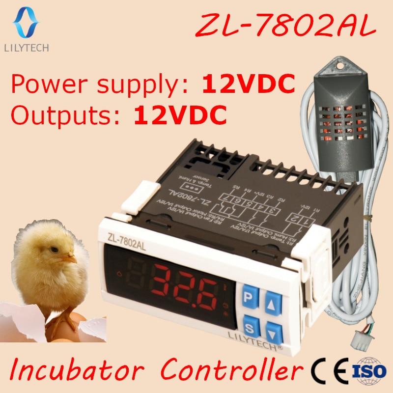 ZL-7802AL,12VDC, Temperature Humidity for incubator, Multifunctional Automatic Incubator, Incubator Controller, LilytechZL-7802AL,12VDC, Temperature Humidity for incubator, Multifunctional Automatic Incubator, Incubator Controller, Lilytech