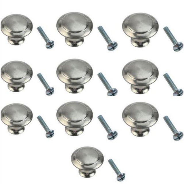 Bon 10pcs Round Stainless Steel Cabinet Knobs Easy Use Drawer Knobs Kitchen  Cupboard Pull Handles Tool