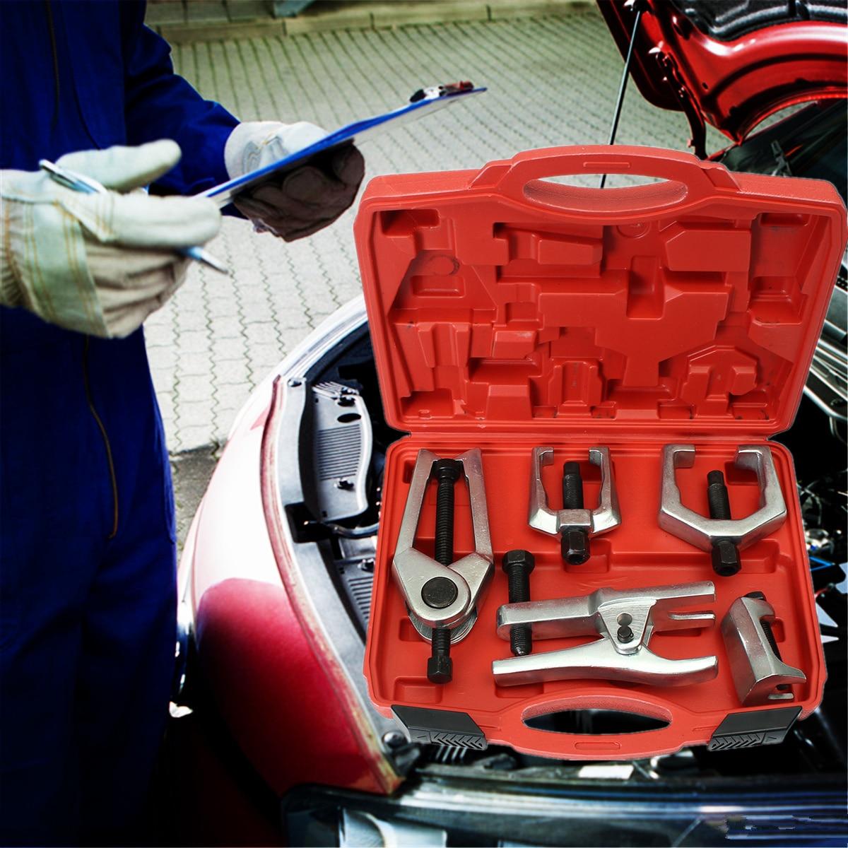 5 in 1 Strumento di Servizio di Front-End Kit Giunto Tirante Pitman Arm Puller di Rimozione Testa A Sfera Estrattore Auto strumenti di riparazione