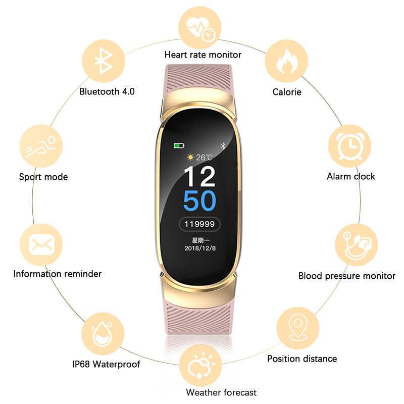 ... BANGWEI Smart Sport Watch Men Women Heart rate blood pressure blood  oxygen monitoring Information Call Reminder ... b26576d270b1d
