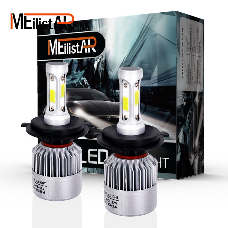 Car light COB Chip H4 H13 9004 9007 Hi-lo Beam H7 9005 HB3 9006 HB4 H11 H9 H1 H3 9012 Auto <font><b>LED</b></font> Headlight Bulb 8000lm 12V 6500k