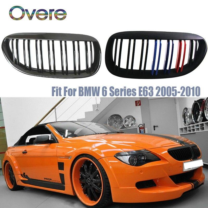Grilles de course avant de voiture Overe pour BMW E63 E64 BMW série 6 coupé E63 M6 650Ci 645Ci 2003-2010 M accessoires de Performance de puissance
