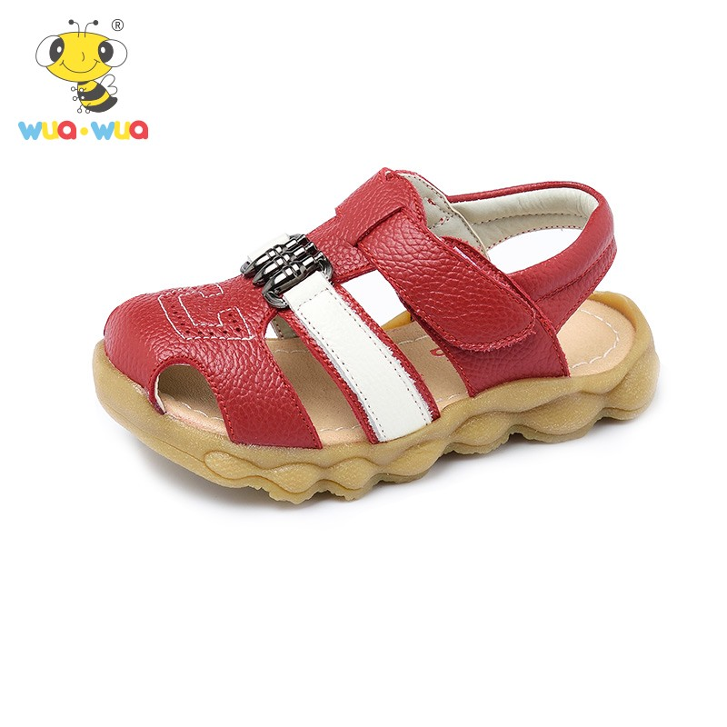 Wua Wua Baby First Walkers Brand Genuine Leather Shoes Infant Cute Summer Shoes Summer Pink Bowknot Baby Boy Girl Toddler Shoes baby shoes sport sneakers children rubber boots first walkers baby schoentjes items shoes infant boys girl 503093