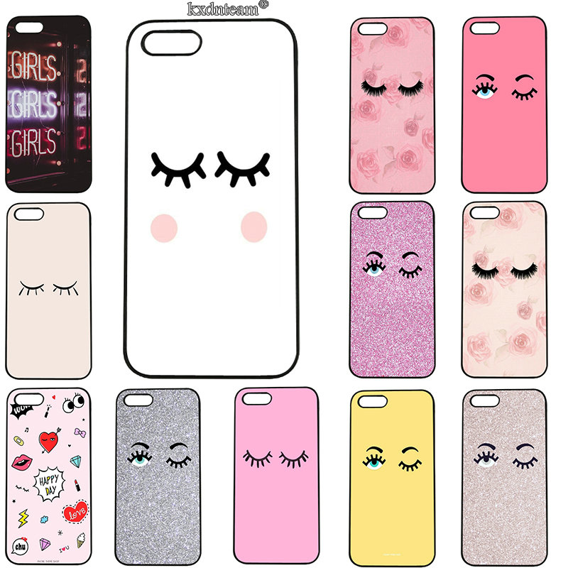 Fashion Chiara Ferragni Eyes Mobile Phone Cases Hard PC Plastic Cover for iphone 8 7 6 6S Plus X 5S 5C 5 SE 4 4S iPod Touch 5 6