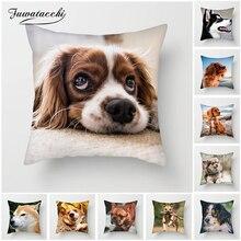 Fuwatacchi Cute Corgi Cushion Covers Various Dogs Pillow Cover for Home Sofa Chair Decorative Pillows Animal Photos Pillowcases