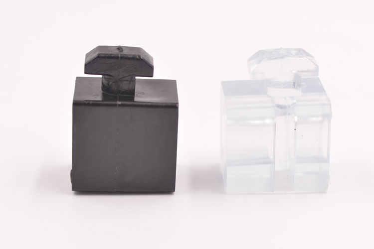 4040 알루미늄 프로파일 패널 마운트 블록 1/4 나사 너트가있는 나일론 유리 섬유 강화 투명 아크릴 유리 물 막이 판