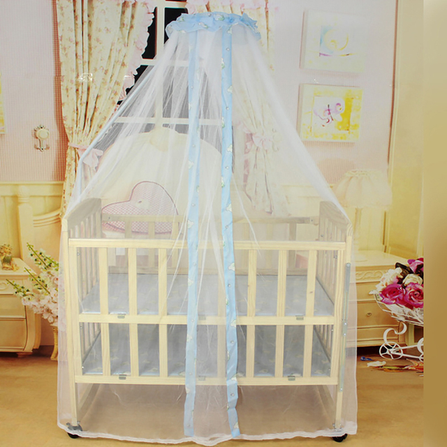 Baby Crib Net With Stand Polyester Blue Yellow Mosquito Net Canopy Crib Bed Portable Baby Cot & Baby Crib Net With Stand Polyester Blue Yellow Mosquito Net Canopy ...