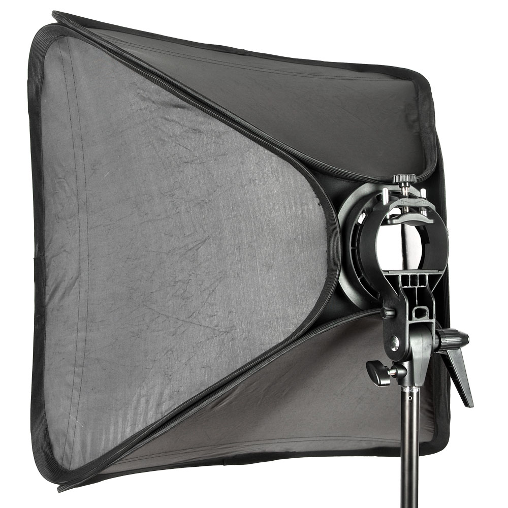 "Godox Ajustable Flash Softbox 20"" * 20"" 50 x 50cm + S type Bracket Bowens Mount Kit for Flash Speedlite Studio Shooting-in Softbox from Consumer Electronics    3"