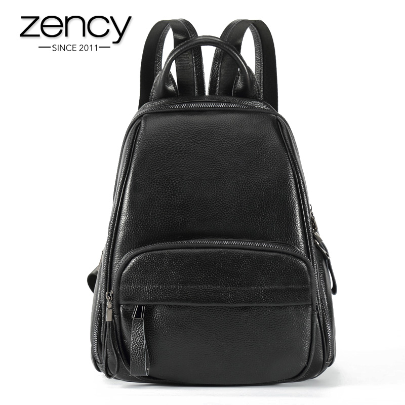 ФОТО New 2017 100% Real Soft Genuine Leather Women Backpack Woman Korean Style Ladies Strap Laptop School Bags for Teenagers Girls