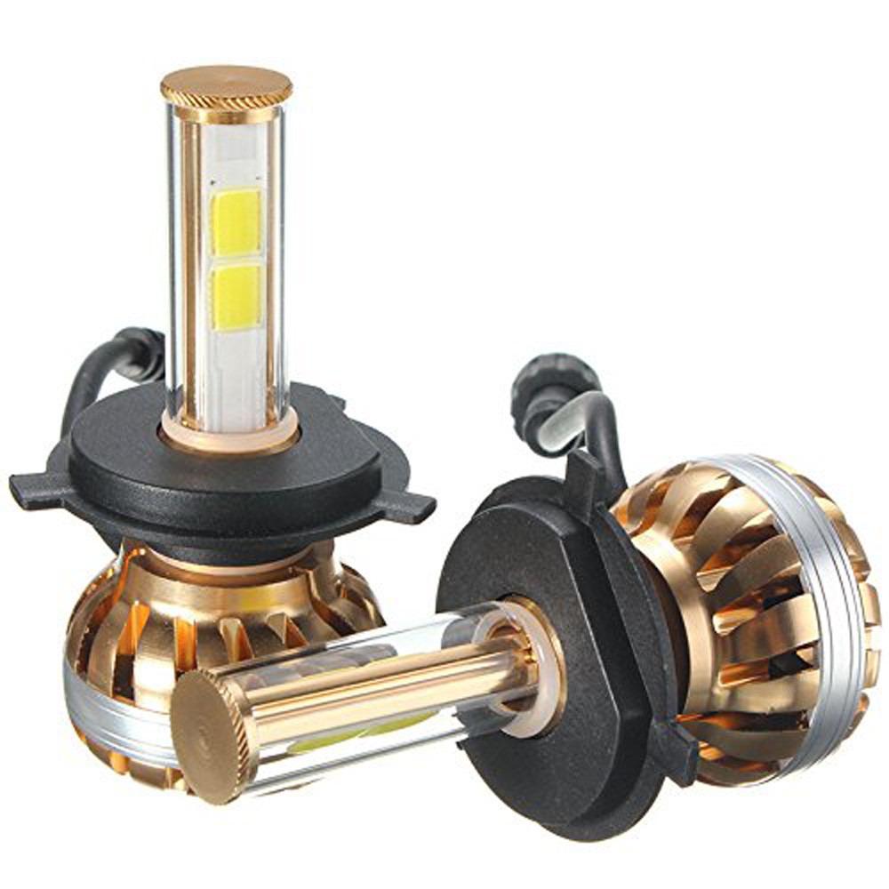 NEW H4 120W CREE Chips Car LED Headlight Kit 6000K White Car Bulb Lamp Light COB LED light Chip