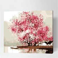 Картина по номерам DIY дропшиппинг 50x65 60x75 см рай страны чудес пейзаж холст свадебное украшение искусство картина подарок