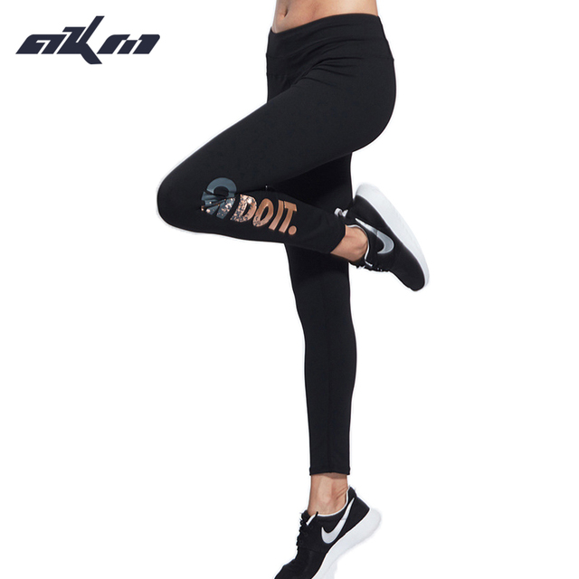 Women Letter leggings Print High Elastic Slim Push Up Pants Sweat-Wicking Fabric Pants Wide Waistband Fitness Trouser
