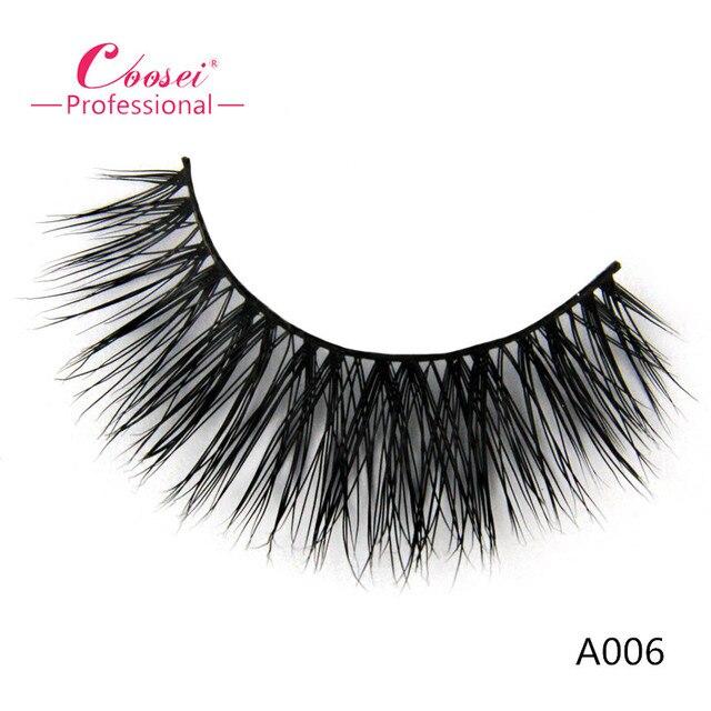 High Quality False Eyelash,100% Handmade 3D Real Mink Lashes,Natural Long Individual Eyelash Extensions ,A006