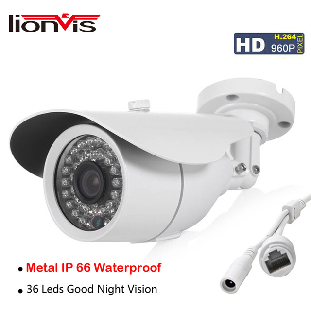 IP Camera HD 960P 1.3 MP 1280X960 ONVIF 1/3''CCTV Security Camera 36 Infrared Led Day/Night Vision Outdoor Network Camera